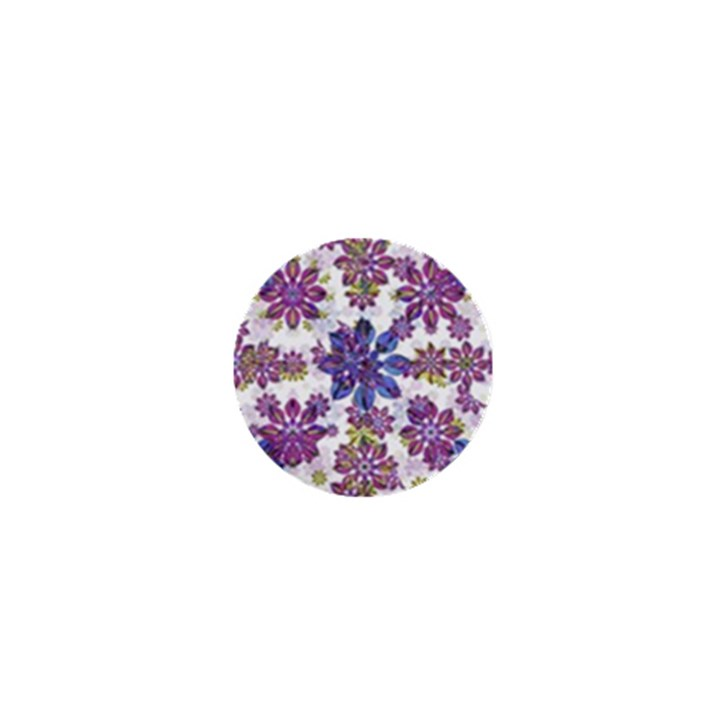 Stylized Floral Ornate Pattern 1  Mini Buttons