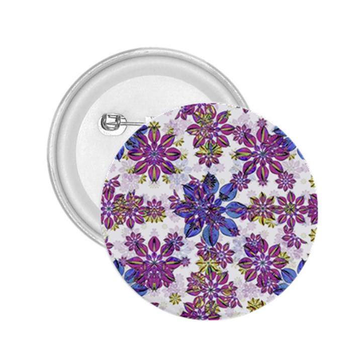 Stylized Floral Ornate Pattern 2.25  Buttons