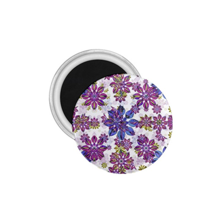 Stylized Floral Ornate Pattern 1.75  Magnets