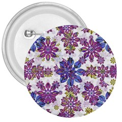 Stylized Floral Ornate Pattern 3  Buttons