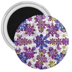 Stylized Floral Ornate Pattern 3  Magnets