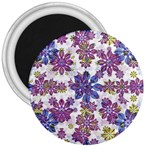 Stylized Floral Ornate Pattern 3  Magnets Front