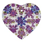 Stylized Floral Ornate Pattern Ornament (Heart)  Front
