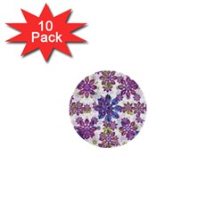 Stylized Floral Ornate Pattern 1  Mini Buttons (10 pack)