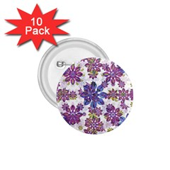 Stylized Floral Ornate Pattern 1 75  Buttons (10 Pack)