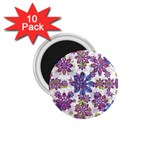 Stylized Floral Ornate Pattern 1.75  Magnets (10 pack)  Front