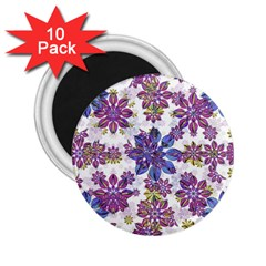 Stylized Floral Ornate Pattern 2.25  Magnets (10 pack)