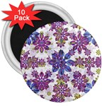 Stylized Floral Ornate Pattern 3  Magnets (10 pack)  Front