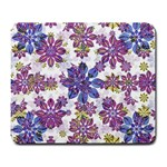 Stylized Floral Ornate Pattern Large Mousepads Front