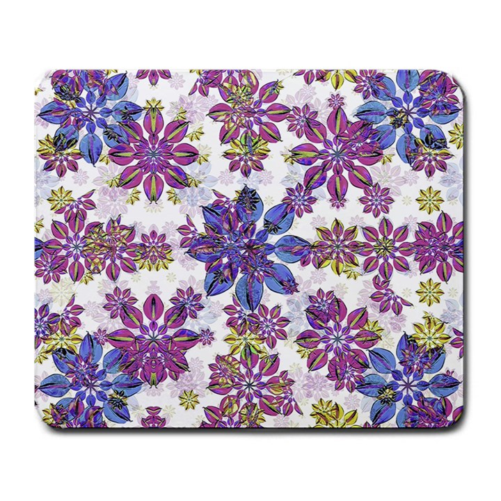 Stylized Floral Ornate Pattern Large Mousepads
