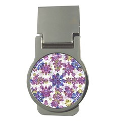 Stylized Floral Ornate Pattern Money Clips (Round)
