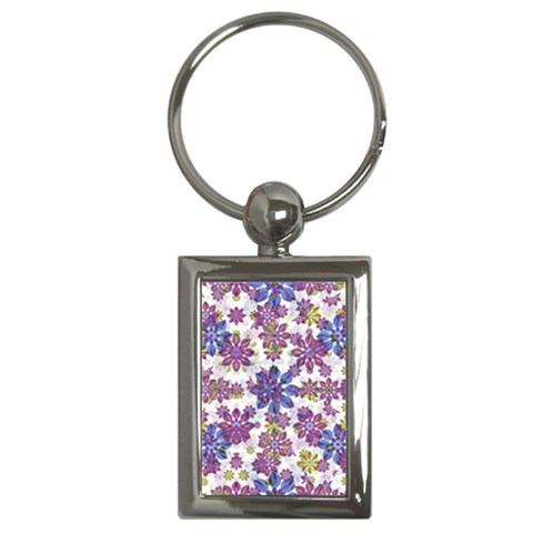 Stylized Floral Ornate Pattern Key Chains (Rectangle)