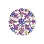 Stylized Floral Ornate Pattern Magnet 3  (Round) Front