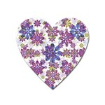 Stylized Floral Ornate Pattern Heart Magnet Front