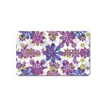 Stylized Floral Ornate Pattern Magnet (Name Card) Front