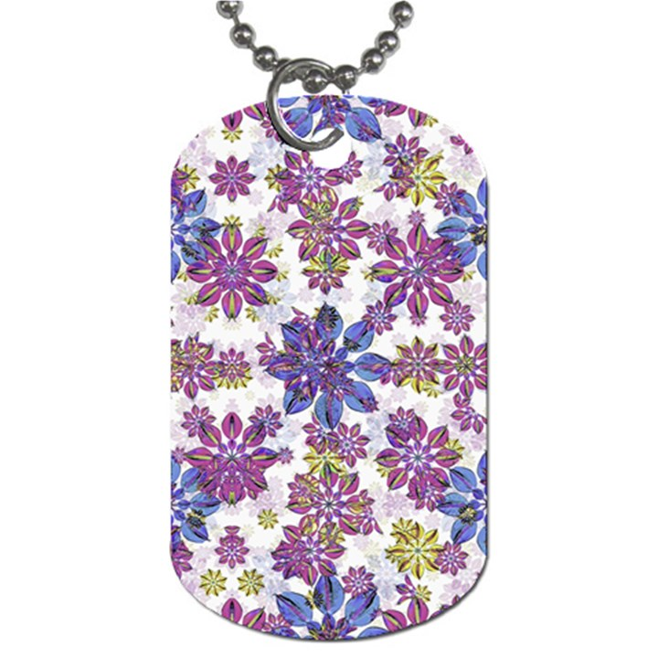 Stylized Floral Ornate Pattern Dog Tag (One Side)