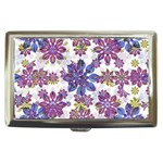 Stylized Floral Ornate Pattern Cigarette Money Cases Front