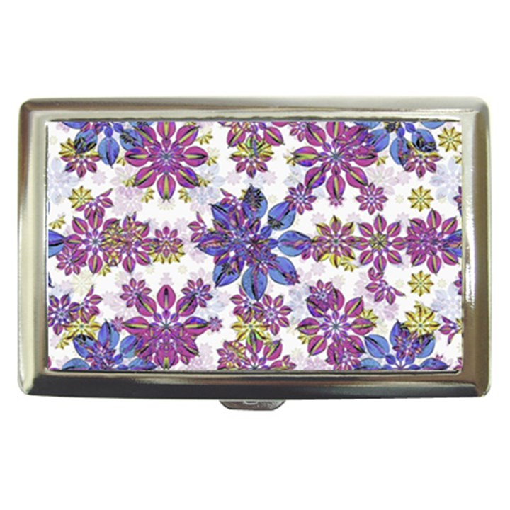 Stylized Floral Ornate Pattern Cigarette Money Cases