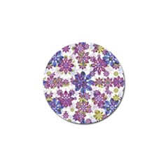 Stylized Floral Ornate Pattern Golf Ball Marker