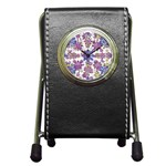 Stylized Floral Ornate Pattern Pen Holder Desk Clocks Front