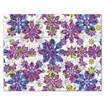 Stylized Floral Ornate Pattern Rectangular Jigsaw Puzzl Front
