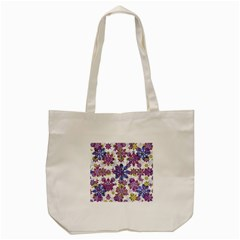 Stylized Floral Ornate Pattern Tote Bag (cream)