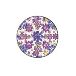 Stylized Floral Ornate Pattern Hat Clip Ball Marker (4 pack) Front