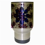 Stylized Floral Ornate Pattern Travel Mug (Silver Gray) Center