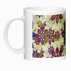 Stylized Floral Ornate Pattern Night Luminous Mugs