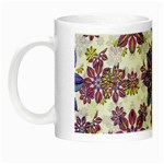 Stylized Floral Ornate Pattern Night Luminous Mugs Left