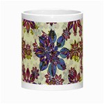Stylized Floral Ornate Pattern Night Luminous Mugs Center