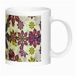 Stylized Floral Ornate Pattern Night Luminous Mugs Right