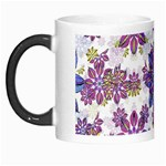 Stylized Floral Ornate Pattern Morph Mugs Left