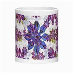 Stylized Floral Ornate Pattern Morph Mugs Center