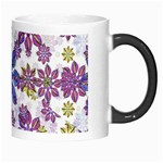 Stylized Floral Ornate Pattern Morph Mugs Right