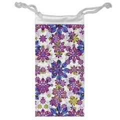 Stylized Floral Ornate Pattern Jewelry Bags