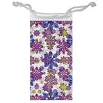 Stylized Floral Ornate Pattern Jewelry Bags Front
