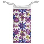 Stylized Floral Ornate Pattern Jewelry Bags Back