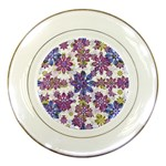 Stylized Floral Ornate Pattern Porcelain Plates Front