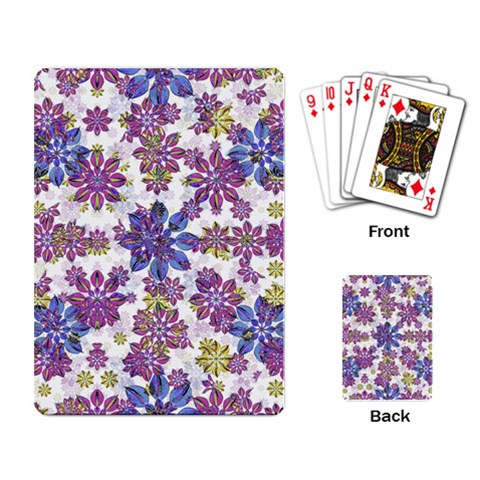 Stylized Floral Ornate Pattern Playing Card