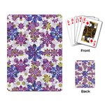 Stylized Floral Ornate Pattern Playing Card Back