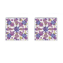 Stylized Floral Ornate Pattern Cufflinks (square)
