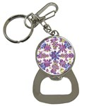 Stylized Floral Ornate Pattern Bottle Opener Key Chains Front
