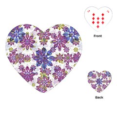 Stylized Floral Ornate Pattern Playing Cards (Heart)