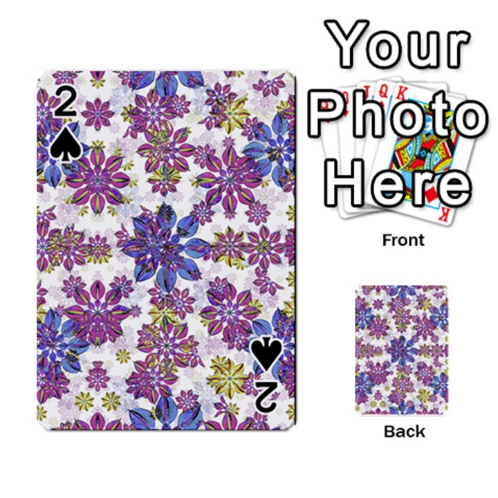 Stylized Floral Ornate Pattern Playing Cards 54 Designs