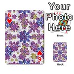 Stylized Floral Ornate Pattern Playing Cards 54 Designs  Front - Heart6