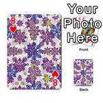 Stylized Floral Ornate Pattern Playing Cards 54 Designs  Front - Heart8