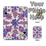Stylized Floral Ornate Pattern Playing Cards 54 Designs  Front - Spade8