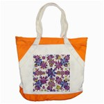 Stylized Floral Ornate Pattern Accent Tote Bag Front