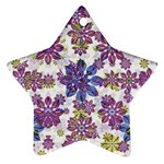 Stylized Floral Ornate Pattern Star Ornament (Two Sides)  Front